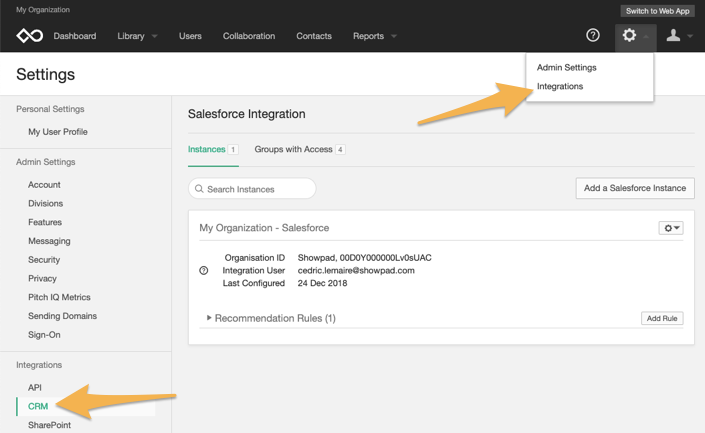 Setting up auto-provisioning for Salesforce users – Showpad