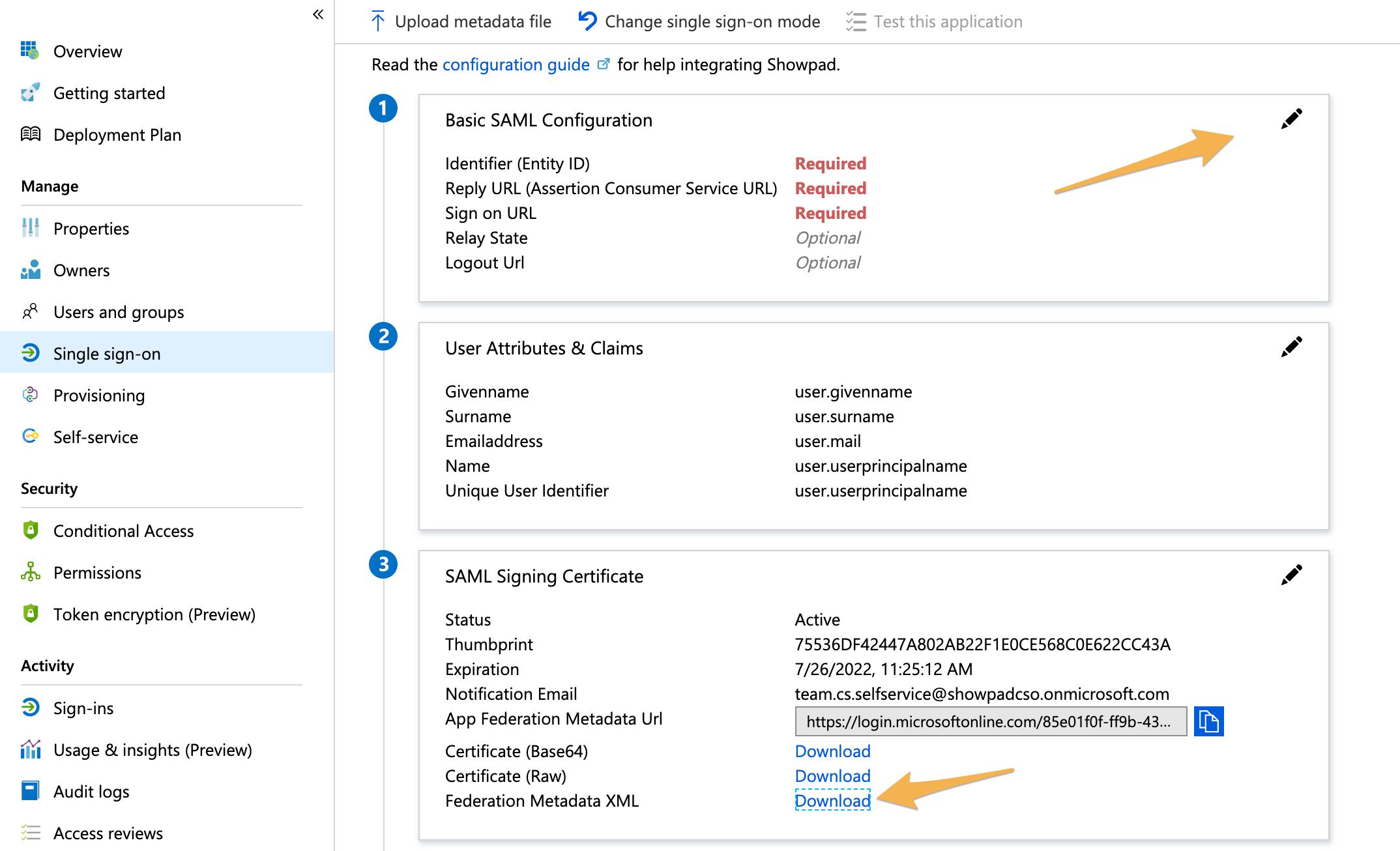 Using Azure AD for SSO with Showpad – Showpad Help Center